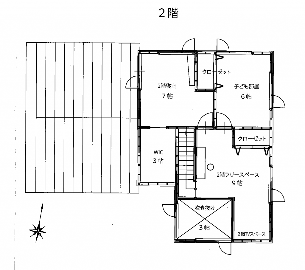 土屋建設_施工例_登別_平面図2
